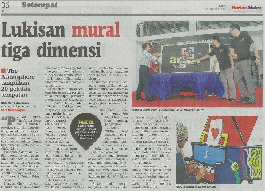 Art Misfits Harian Metro Press