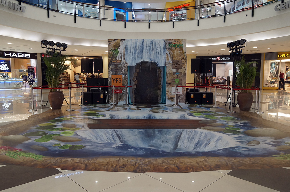 Art Misfits 3D Murals for Mines Shopping Center 3