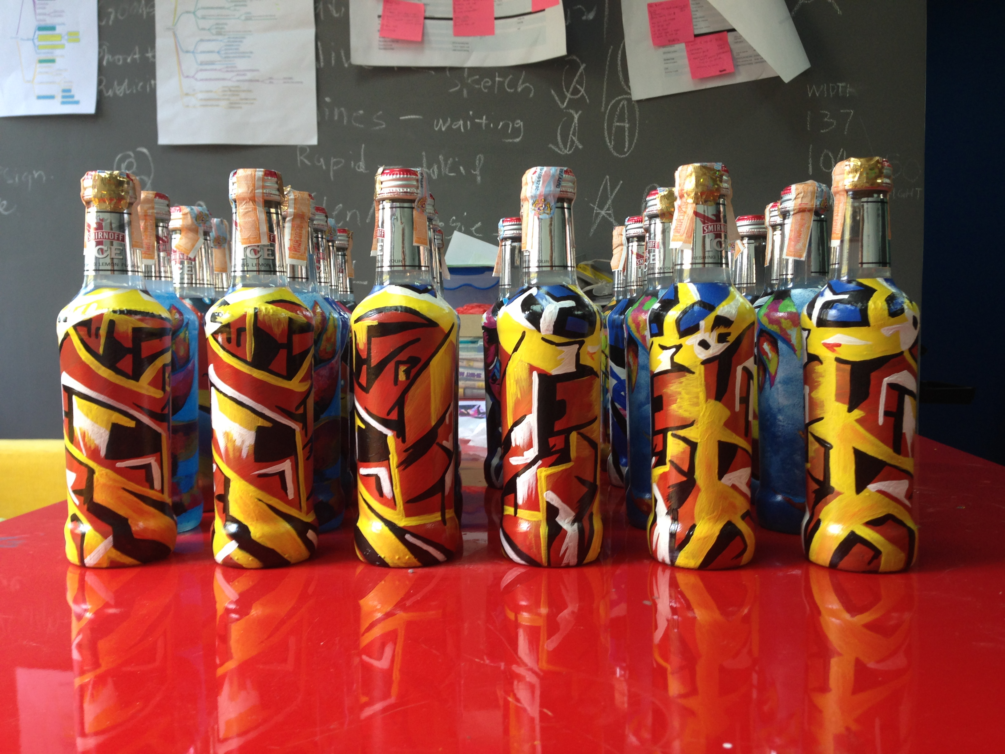 Art Misfits Painted bottles for Smirnoff 3
