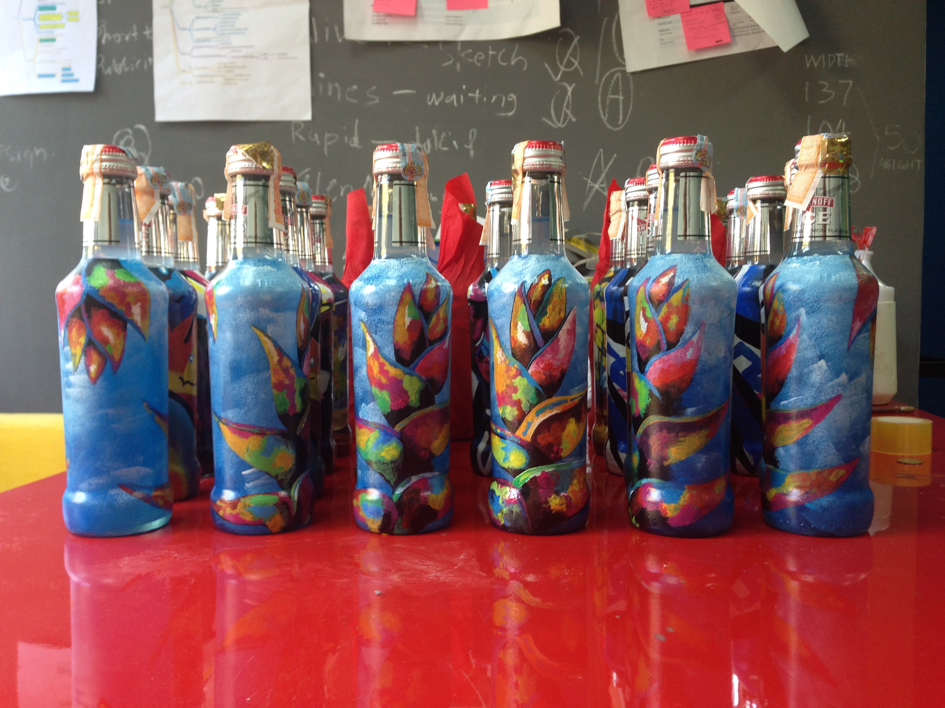 Art Misfits Painted bottles for Smirnoff 4