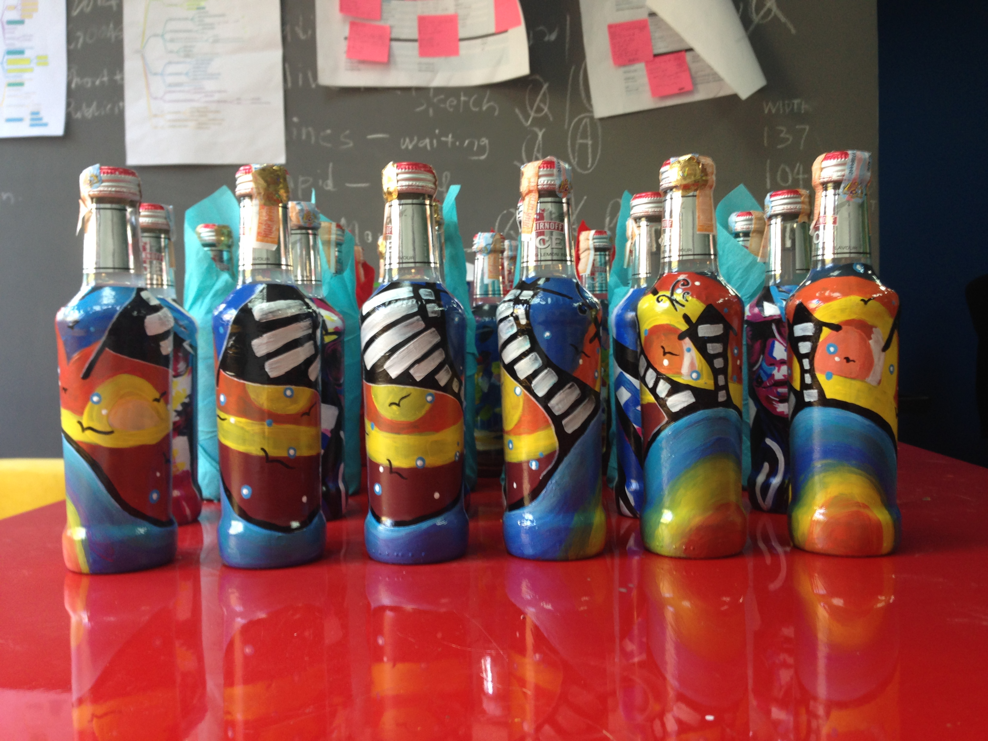 Art Misfits Painted bottles for Smirnoff 5