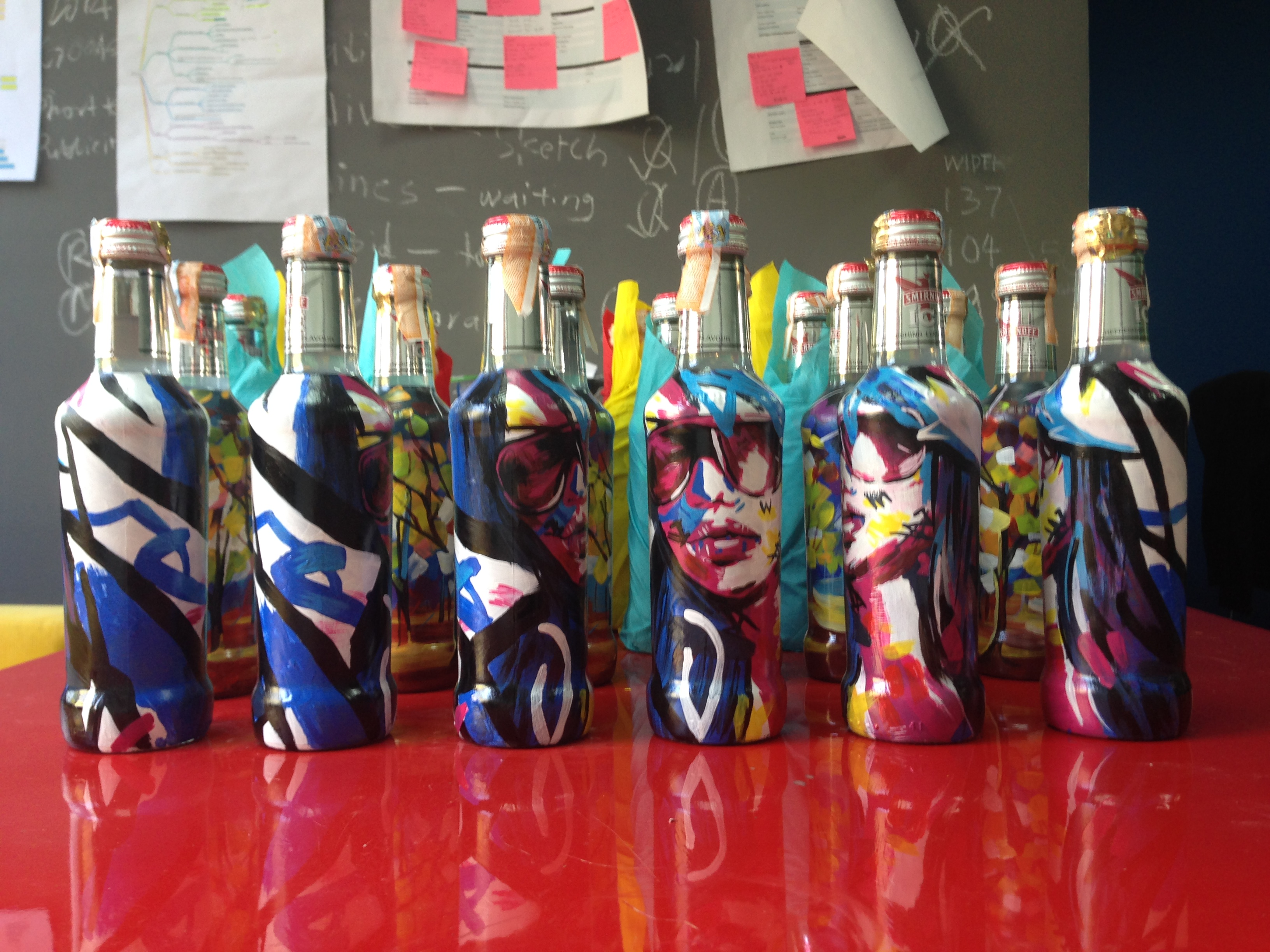 Art Misfits Painted bottles for Smirnoff 6