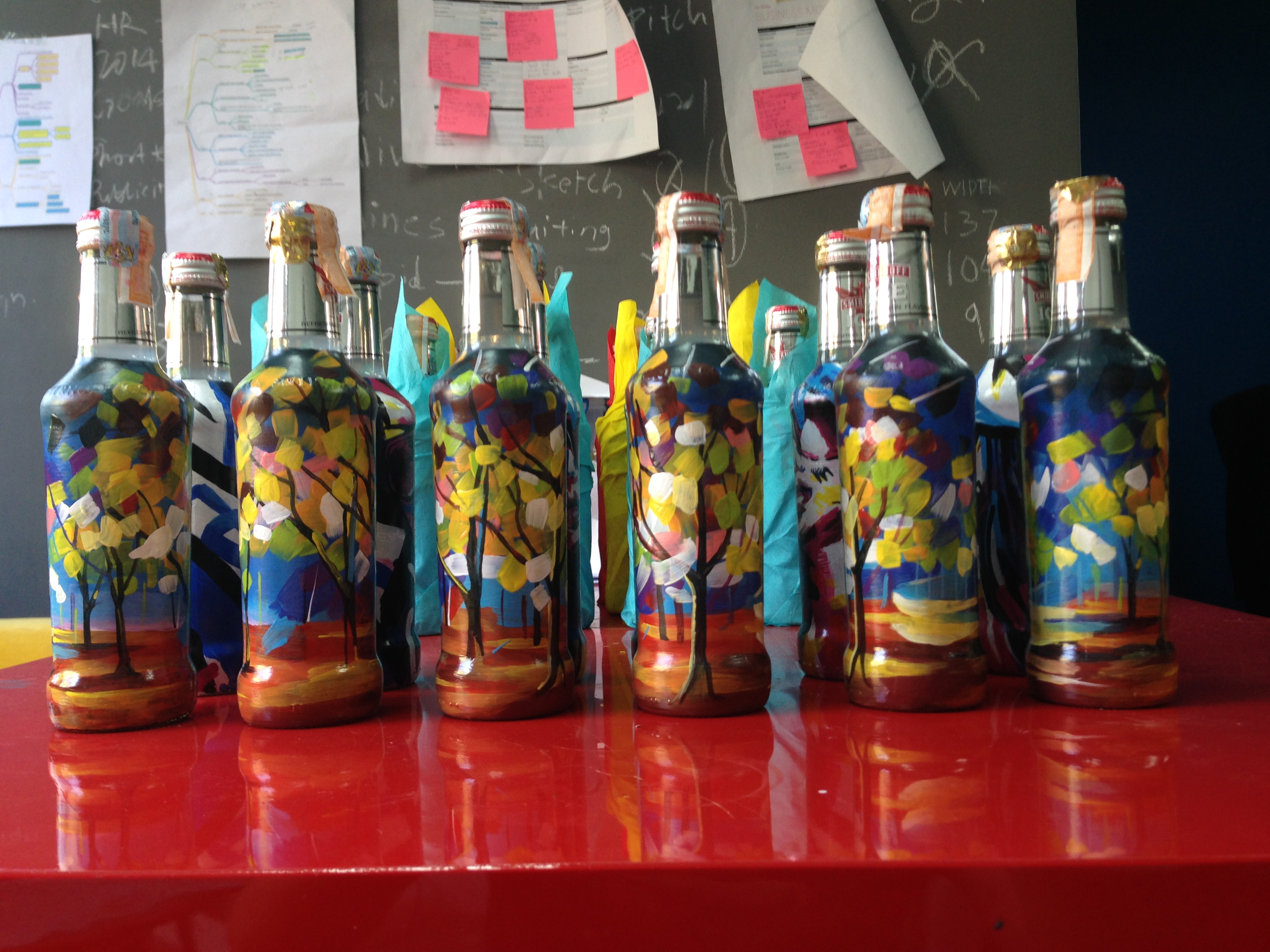 Art Misfits Painted bottles for Smirnoff 7