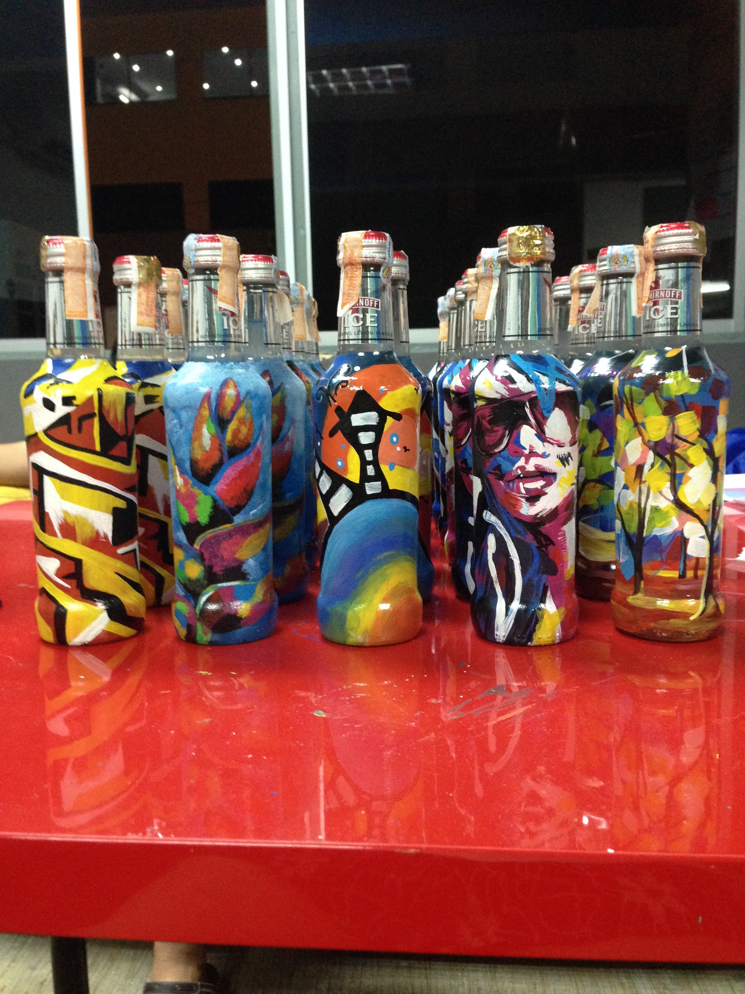 Art Misfits Painted bottles for Smirnoff 2