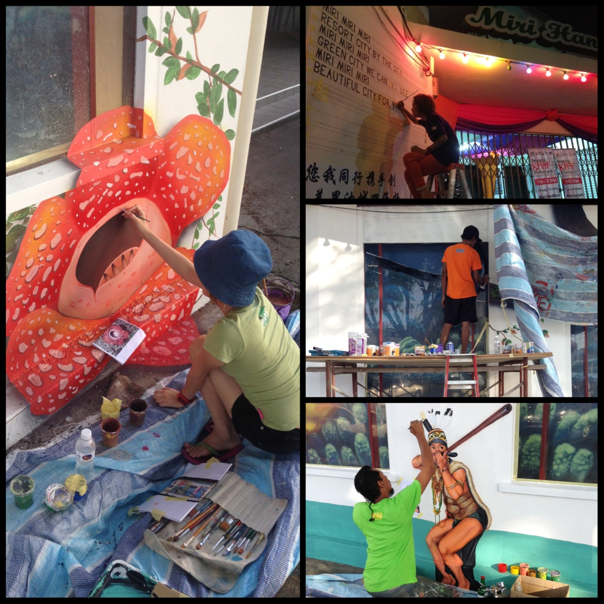 Art Misfits iM4u 3D mural for Miri Handicraft Center 7