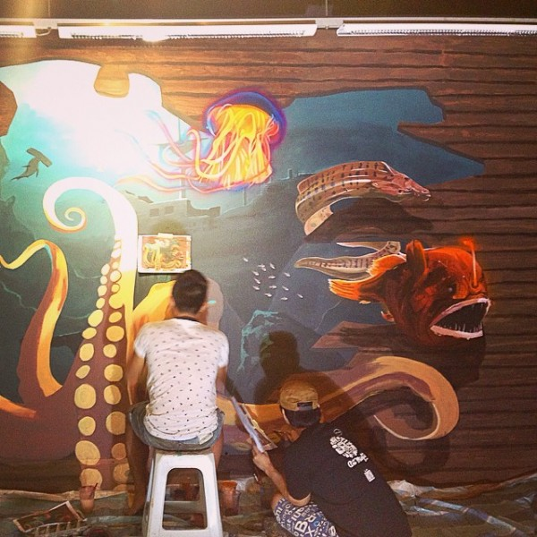 3d mural for aquaria klcc art misfits for 3d mural painting tutorial