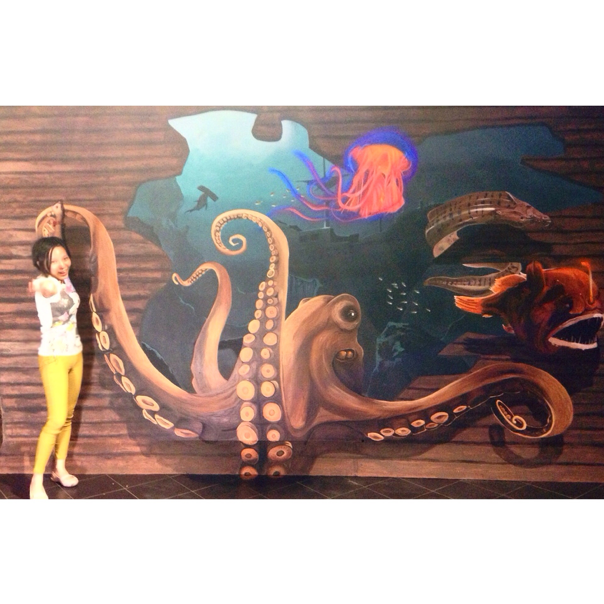 Art Misfits 3d Mural for Aquaria KLCC 1