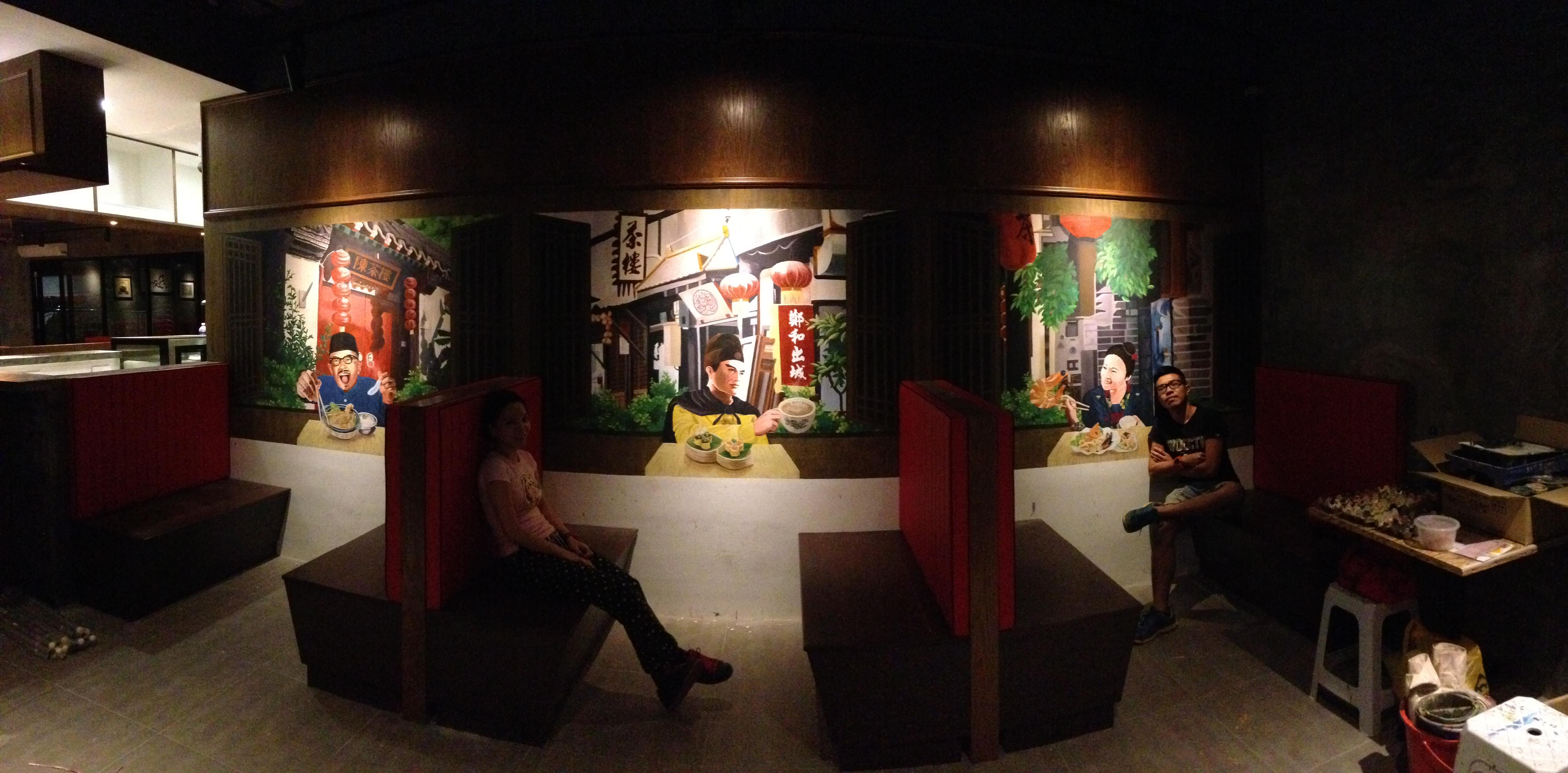 Art Misfits 3d mural for Mohd Chan's restaurant 5