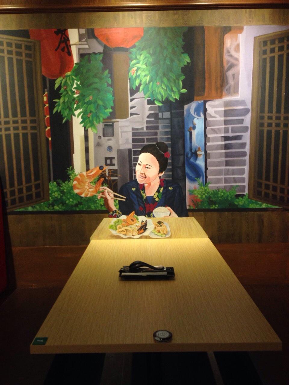 Art Misfits 3d mural for Mohd Chan's restaurant 1