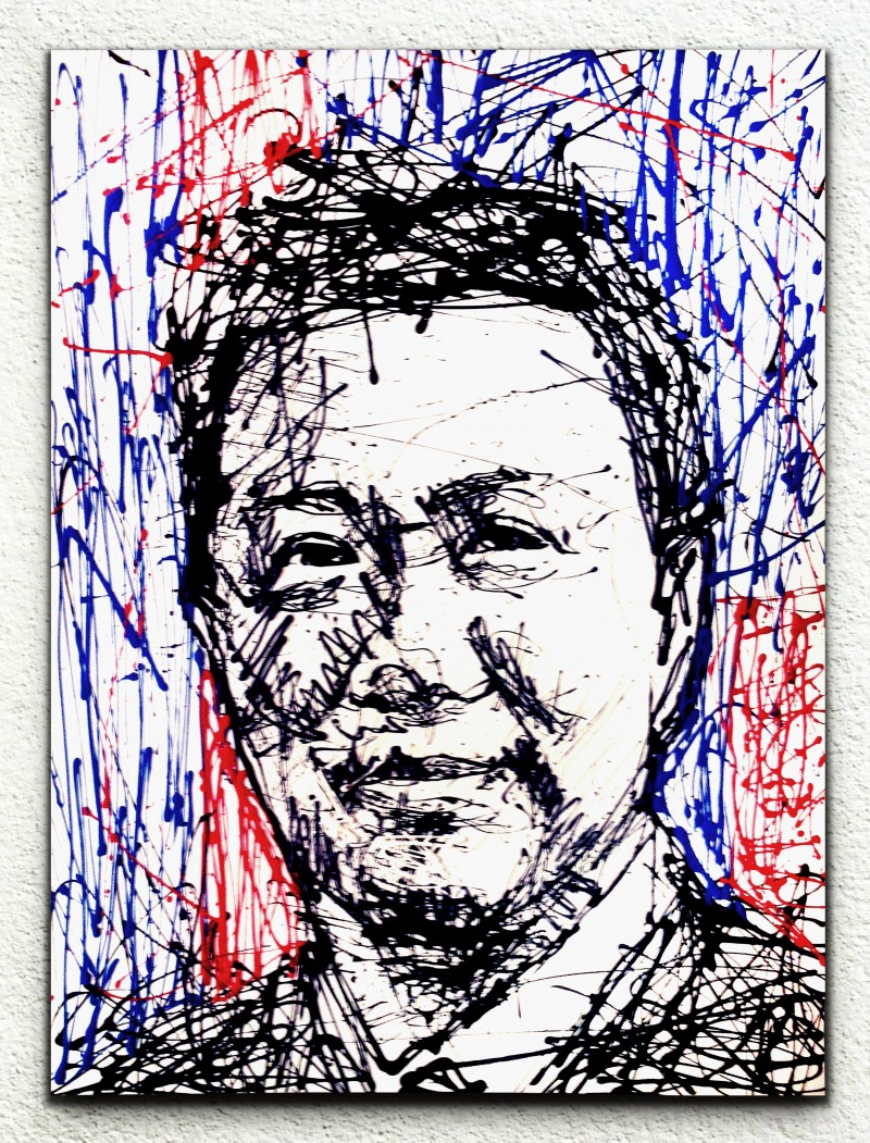 Art Misfits Abstract Portrait of Dato. Seri Wong Chun Wai